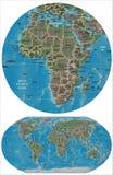 Χάρτες κόσμων και της Αφρικής απεικόνιση αποθεμάτων