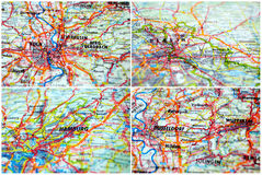 Χάρτες της Γερμανίας Στοκ Εικόνες