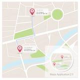 Χάρτες app Στοκ Εικόνες