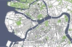Χάρτης Άγιος Πετρούπολη, Ρωσία διανυσματική απεικόνιση
