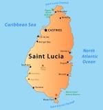 χάρτης Άγιος της Λουκία διανυσματική απεικόνιση