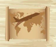 χάρτης αέρα πέρα από το αεροπλάνο απεικόνιση αποθεμάτων