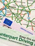 χάρτης αδειών οδήγησης Στοκ εικόνες με δικαίωμα ελεύθερης χρήσης