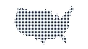 Χάρτης ΑΜΕΡΙΚΑΝΙΚΩΝ σημείων Έννοια για τη δικτύωση, την τεχνολογία και τις συνδέσεις Γραφική παράσταση κινήσεων
