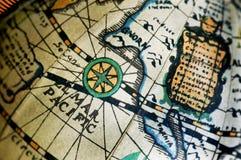 χάρτης αναδρομικός Στοκ Φωτογραφία