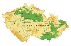 Χάρτης ανακούφισης Δημοκρατίας της Τσεχίας Στοκ εικόνες με δικαίωμα ελεύθερης χρήσης