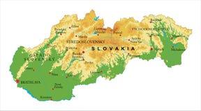 Χάρτης ανακούφισης της Σλοβακίας Στοκ φωτογραφίες με δικαίωμα ελεύθερης χρήσης