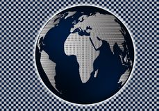 Χάρτης αναφοράς του κόσμου επίσης corel σύρετε το διάνυσμα απεικόνισης 10 eps Σχεδιάγραμμα για τη δημιουργία των φρέσκων παγκόσμι Στοκ Φωτογραφίες