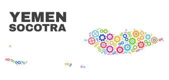 Χάρτης αρχιπελαγών Socotra μωσαϊκών Gearwheel των στοιχείων ελεύθερη απεικόνιση δικαιώματος