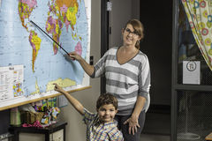 Χάρτης 2 δασκάλων Στοκ εικόνες με δικαίωμα ελεύθερης χρήσης