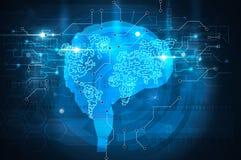 Χάρτης εγκεφάλου διανυσματική απεικόνιση