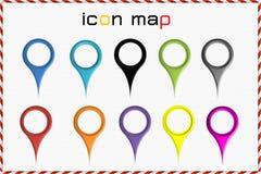 Χάρτης εικονιδίων Στοκ Φωτογραφία