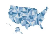 χάρτης ΗΠΑ Απομονωμένη διανυσματική απεικόνιση Πολιτεία Ameri Στοκ Εικόνες
