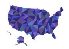 χάρτης ΗΠΑ απομονωμένη ωθώντας s κουμπιών γυναίκα έναρξης χεριών απεικόνιση Πολιτεία Ameri Στοκ φωτογραφίες με δικαίωμα ελεύθερης χρήσης
