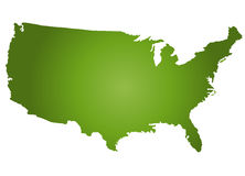 χάρτης ΗΠΑ Στοκ Εικόνα