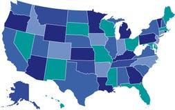 χάρτης ΗΠΑ Στοκ Φωτογραφία