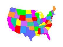 χάρτης ΗΠΑ ελεύθερη απεικόνιση δικαιώματος