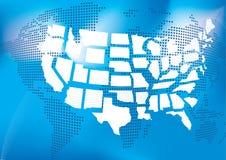 χάρτης ΗΠΑ Στοκ Φωτογραφίες