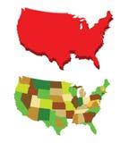 χάρτης ΗΠΑ Στοκ εικόνα με δικαίωμα ελεύθερης χρήσης