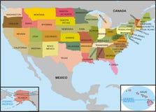 χάρτης ΗΠΑ Στοκ φωτογραφία με δικαίωμα ελεύθερης χρήσης