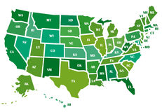 χάρτης ΗΠΑ απεικόνιση αποθεμάτων