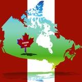 Χάρτης θερμοκρασίας του Καναδά Στοκ εικόνα με δικαίωμα ελεύθερης χρήσης