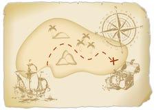 Χάρτης θησαυρών διανυσματική απεικόνιση