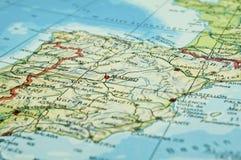χάρτης Ισπανία Στοκ φωτογραφία με δικαίωμα ελεύθερης χρήσης