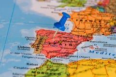 χάρτης Ισπανία Στοκ Εικόνες
