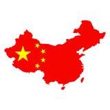 Χάρτης Κίνα σημαιών ελεύθερη απεικόνιση δικαιώματος