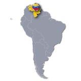 Χάρτης και Βενεζουέλα της Αμερικής Στοκ Εικόνες