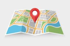 Χάρτης και δείκτης απεικόνιση αποθεμάτων