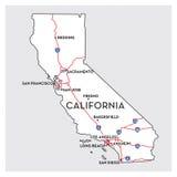 χάρτης Καλιφόρνιας απεικόνιση αποθεμάτων