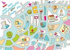 χάρτης κατσικιών δραστηρι&o Στοκ φωτογραφία με δικαίωμα ελεύθερης χρήσης