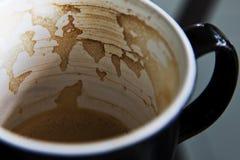 Χάρτης καφέ στην κούπα μου Στοκ φωτογραφία με δικαίωμα ελεύθερης χρήσης