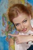 χάρτης κοριτσιών Στοκ φωτογραφία με δικαίωμα ελεύθερης χρήσης