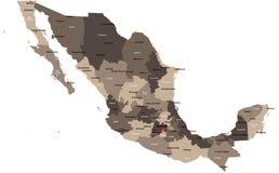 χάρτης Μεξικό Στοκ φωτογραφία με δικαίωμα ελεύθερης χρήσης