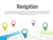Χάρτης με μια καρφίτσα στο λευκό Στοκ Φωτογραφίες
