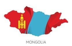 χάρτης Μογγολία διανυσματική απεικόνιση