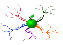 Χάρτης μυαλού της Apple Στοκ Φωτογραφία