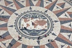 Χάρτης μωσαϊκών των πορτογαλικών ανακαλύψεων στο Βηθλεέμ, Λισσαβώνα, Portu Στοκ εικόνες με δικαίωμα ελεύθερης χρήσης