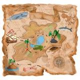 Χάρτης Νησιών των Θησαυρών Στοκ Εικόνα
