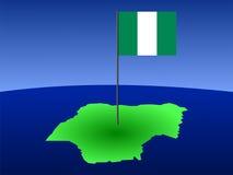 χάρτης Νιγηρία σημαιών ελεύθερη απεικόνιση δικαιώματος