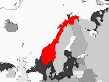 χάρτης Νορβηγία ελεύθερη απεικόνιση δικαιώματος