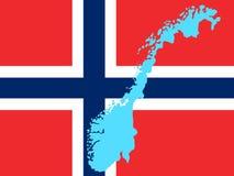 χάρτης Νορβηγία διανυσματική απεικόνιση