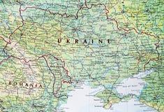 χάρτης Ουκρανία Στοκ Φωτογραφίες