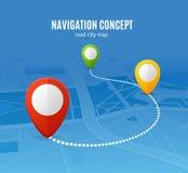 Χάρτης οδικών πόλεων έννοιας ναυσιπλοΐας διάνυσμα ελεύθερη απεικόνιση δικαιώματος