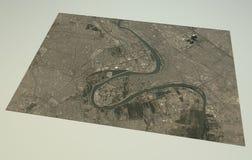 Χάρτης οδών και κτηρίων της Βαγδάτης ελεύθερη απεικόνιση δικαιώματος