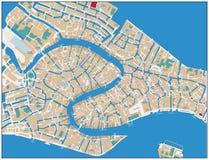 Χάρτης οδών της Βενετίας Στοκ Εικόνες