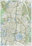 Χάρτης οδών της Μαδρίτης Στοκ φωτογραφίες με δικαίωμα ελεύθερης χρήσης
